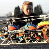 Große Modellflug-Action