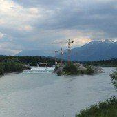 Vorher – nachher: Neues Flusskraftwerk der Feldkircher Stadtwerke am Illspitz ist im Werden