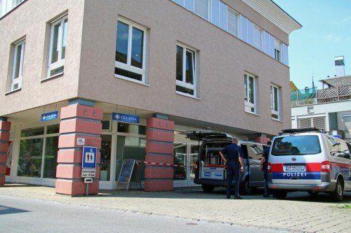 Die Dornbirner Goldhändler-Boutique Ögussa wurde zum Tatort eines Raubüberfalls.  Fotos: VOL.AT/Pletsch