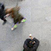 Diskussion um Bettler in Feldkircher Innenstadt