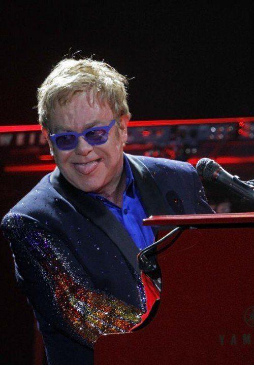 Hochkarätig: Elton John wird am Sonntag seine Hits in St. Gallen zum Besten geben. foto: ap