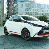 Ein Farbtupfer im Toyota-Programm