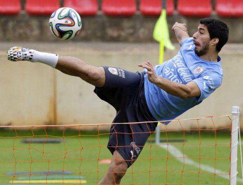 Luis Suárez erzielte 31 Tore in der Premier League für Liverpool. Drei Treffer mit dem Kopf, acht mit dem linken Fuß, 20 mit dem rechten. Foto: Epa