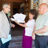 Unterschriften gegen Ortsdurchfahrt Bludenz