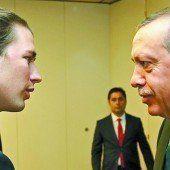 Kurz empfing Erdogan zu klarem Gespräch