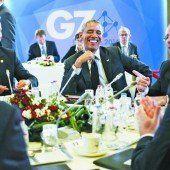 Gute Stimmung auf dem Treffen der G7
