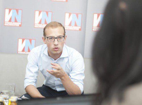 """Sorgt mit """"markigen Sprüchen"""" für Debatten: JVP-Chef Wichtl. VN"""
