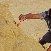 Sandkünstler in Höchstform