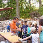 Kinderbaustelle auf der Ruine Neuburg