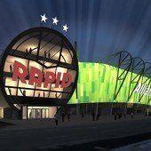 Neues Stadion mit grünem Dach