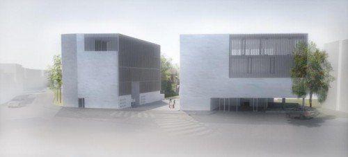 So soll das neue BTV Bankgebäude in Dornbirn aussehen.