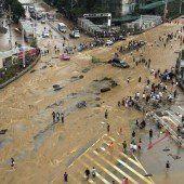 Bilder der Zerstörung in Südchina