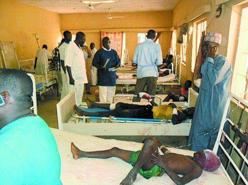 Verletzte: Boko Haram dürfte hinter Anschlag stecken. Foto: AP