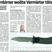 Anklage gegen Dornbirner wegen versuchten Mordes