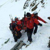 Zwei Alpinisten stürzten in Gletscherspalte
