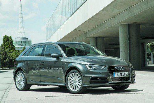 """Audi A3 Sportback e-tron: starke Leistung, Fahren ohne ,,Umdenken"""", fesch und geräumig. Fotos: werk"""