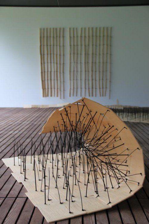 Ausgesetzt: Arbeiten von Franziska Stiegholzer.  Foto: A. Grabher