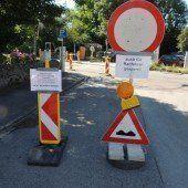 Sperre wegen Belagsarbeiten in Bregenz