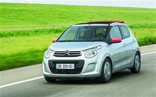 Citroën C1: Stadtflitzer nur mit Stoffdach, Limousinen sind nicht im Plan. Foto: werk