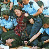 Großdemonstration endete mit Massenfestnahmen