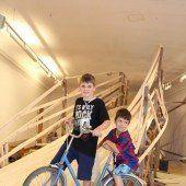 Radrennen im Palais Liechtenstein