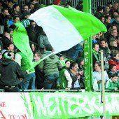 Eine grün-weiße Fußball-Party