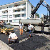 Belagsarbeiten in Riedergasse beendet