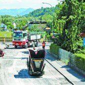 Sperre wegen Straßenausbau