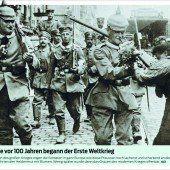 Vor 100 Jahren: Der Erste Weltkrieg