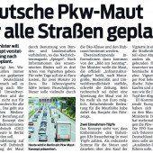 Straßenmaut Deutschland