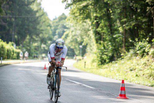 Dominik Berger hatte die elftbeste Radzeit. Foto: hofstätter