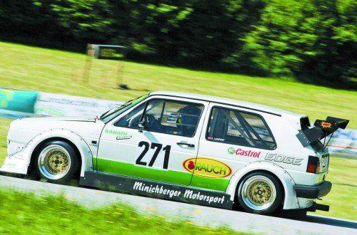 Einer der Favoriten am Hochtannberg: Christoph Lampert auf seinem VW Golf GTI. Foto: privat