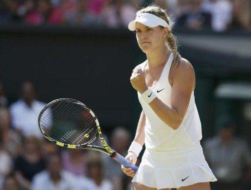 Eugenie Bouchard steht nach dem Sieg über die Weltranglistendritte Simona Halep erstmals in einem Grand-Slam-Endspiel. Foto: reuters