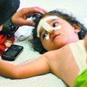 Shayma (4) wurde verwundet, ihre Mama und ihre Geschwister getötet