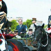Gedenkparade zum französischen Nationalfeiertag