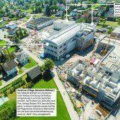 In der Wirke-Baustelle beim ehemaligen Wolff-Areal in Hard schreitet voran