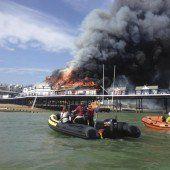 Flammen verschonten Seebrücke