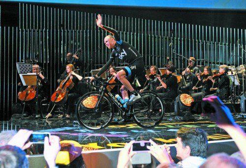 Große Bühne in Leeds für Rad-Ass Chris Froome. Foto: ap