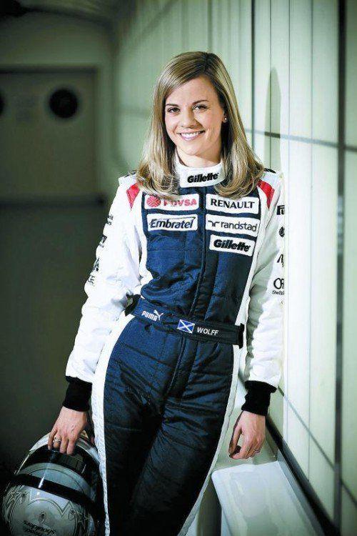 Großer Tag für Susie Wolff in Silverstone: Die Britin fährt am offiziellen Formel-1-Trainingstag den Williams. Foto: APA, WILLIAMS FORMEL 1 TEAM