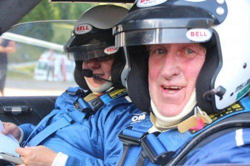 Kurt Adam (vorne) mit Beifahrerin Gerlinde Krenn. Foto: MotorPics