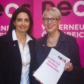 Pinker Wahlkampfstart