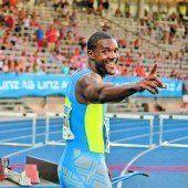 Gatlin lief in Linz die 100 Meter in 9,82 Sekunden