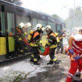 Katastrophenalarm nach Autounfall in Feldkirch
