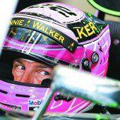 Button fährt für den Papa in pink