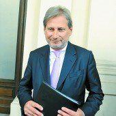 Hahn bleibt EU-Kommissar