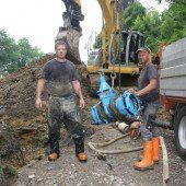 Wasserleitung neu verlegt