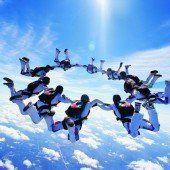 Finaltag bei den Titelkämpfen der Fallschirmspringer in Hohenems
