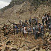 Erdrutsch in Nepal verwüstet ganze Dörfer