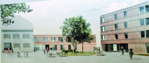 Das neue Sozialzentrum soll aus Pflegeheim, Betreutem Wohnen und Versorgungsheim bestehen. Foto: hbr