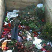 Richtig recyceln am Harder Friedhof